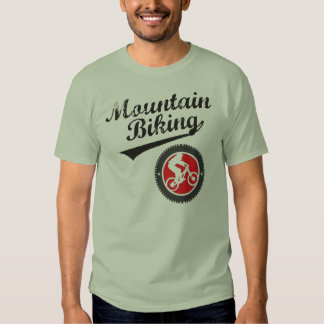 MTB Mountain Biking Retro Graphic, Black & Red Shirts