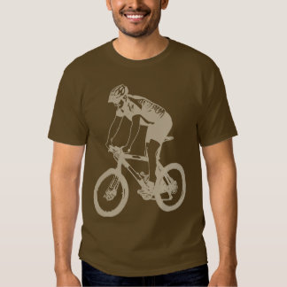 MTB Mountain Biking Solo Silhouette, Tan design Shirts