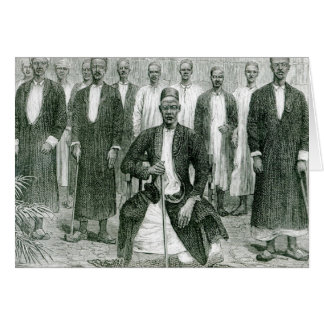 Mtesa,the Emperor of Uganda and other chiefs Card
