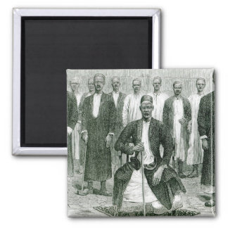 Mtesa,the Emperor of Uganda and other chiefs Magnet