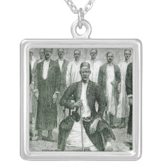 Mtesa,the Emperor of Uganda and other chiefs Custom Necklace