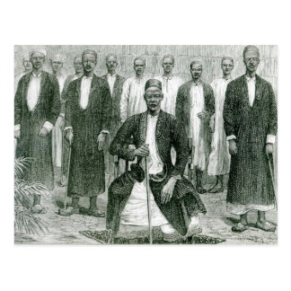 Mtesa,the Emperor of Uganda and other chiefs Postcard