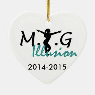 MTG Illusion Heart Ornament