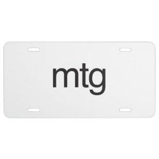 mtg license plate