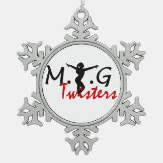 MTG Twisters Pewter Snowflake Pewter Snowflake Decoration