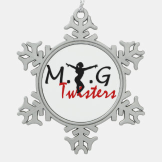 MTG Twisters Pewter Snowflake Snowflake Pewter Christmas Ornament