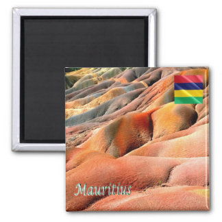 MU - Mauritius - Chamarel - Colored Earths Magnet