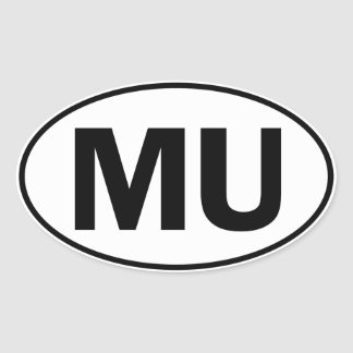 MU Oval Identity Sign Stickers