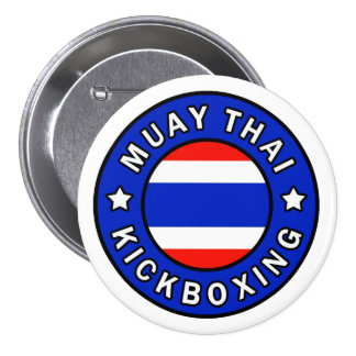 Muay Thai 7.5 Cm Round Badge
