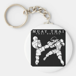 muay thai basic round button key ring