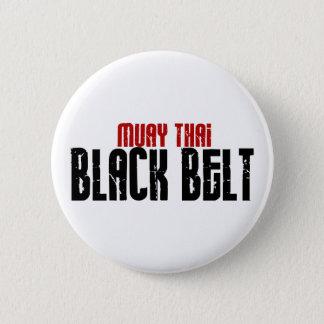 Muay Thai Black Belt Karate 6 Cm Round Badge