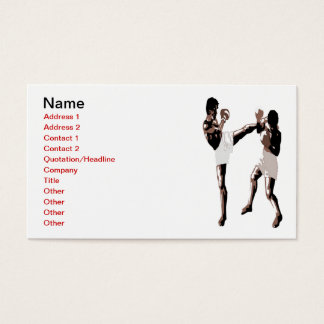 Muay Thai Boxing Business Card