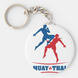 Muay Thai Basic Round Button Key Ring