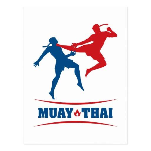Muay Thai Post Card