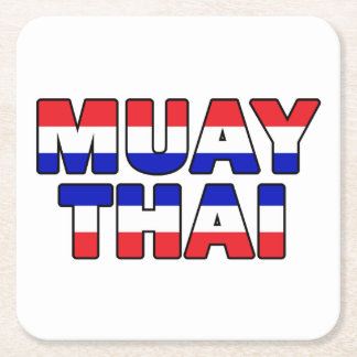 Muay Thai Square Paper Coaster