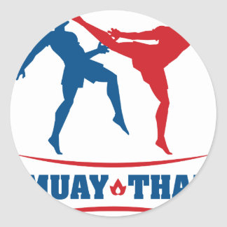 Muay Thai Round Stickers