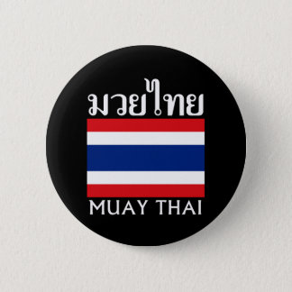 Muay Thai + Thailand Flag 6 Cm Round Badge
