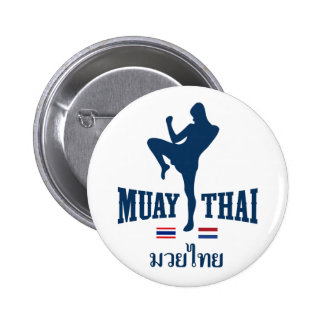 Muay Thai Thailand Netherlands 6 Cm Round Badge