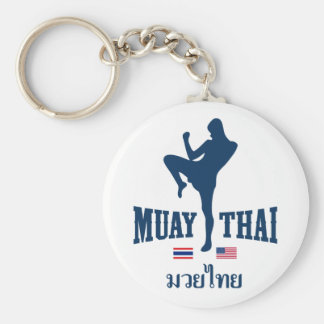 Muay Thai Thailand USA Key Ring