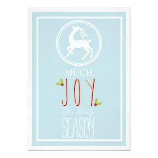 Much Joy this Season - Corporate Holiday Card 13 Cm X 18 Cm Invitation Card