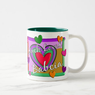 Much Love Babcia (Polish Grandmother) Two-Tone Coffee Mug