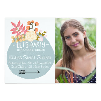 Much to Celebrate Floral Party Invite