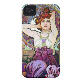 Mucha Amethyst iPhone 4 Covers