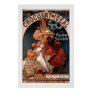 Mucha Art Nouveau Chocolate Poster