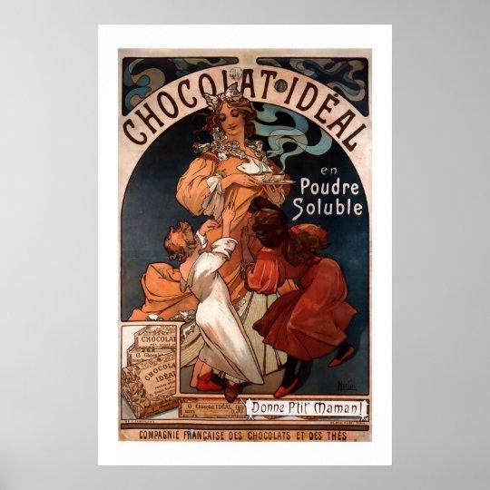 Mucha Art Nouveau Chocolate Poster