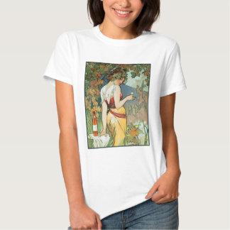 Mucha - Art Nouveau - Cognac T-shirts
