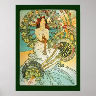 Mucha Art Nouveau Monte Carlo Poster