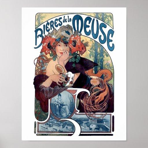 Mucha beer bier poster