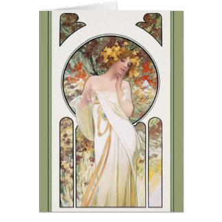 Mucha CARD Sylvais Perfume Ad