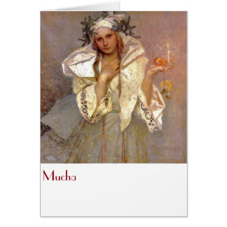 Mucha, Christams in America Card