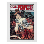 Mucha Cycles Perfecta Poster