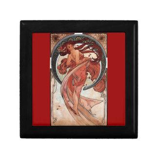 Mucha Dance art deco Small Square Gift Box