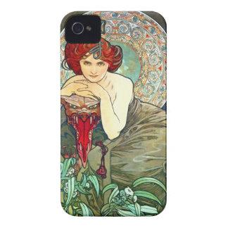 Mucha Emerald iPhone 4 Cases