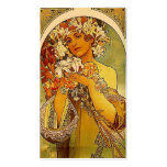 Mucha flowers pack of standard business cards