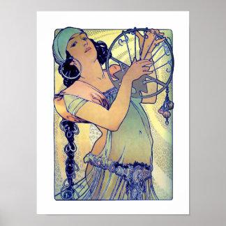 Mucha Gypsy girl Poster