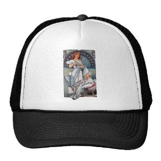 Mucha Hot chocolate mother baby vintage gift Trucker Hats