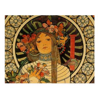 Mucha La Trappistine Postcard