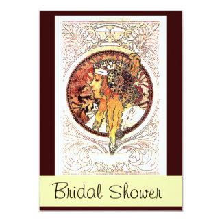 Mucha Lady Bridal Shower Invitation