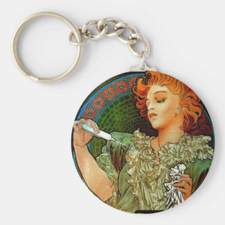 Mucha Lance Parfum Rodo Basic Round Button Key Ring