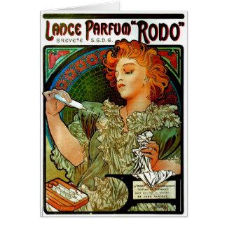 Mucha Lance Parfum Rodo Greeting Card