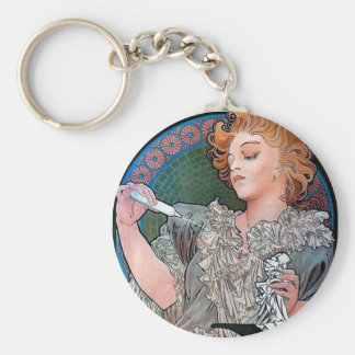 Mucha Lance Parfum Rodo perfume advertisement Basic Round Button Key Ring