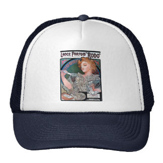Mucha Lance Parfum Rodo perfume advertisement Hat