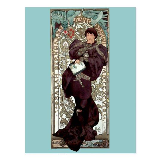 Mucha Lorenzaccio theatre renaisance man Postcard