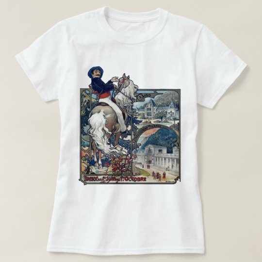 Mucha Luchon Old European City Art Nouveau T-Shirt