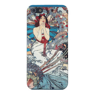 Mucha Monaco Monte carlo art deco poster lady Cover For iPhone 5/5S