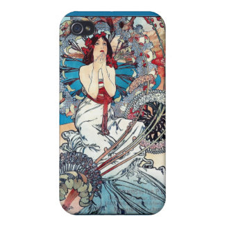 Mucha Monaco Monte carlo art deco poster lady Covers For iPhone 4